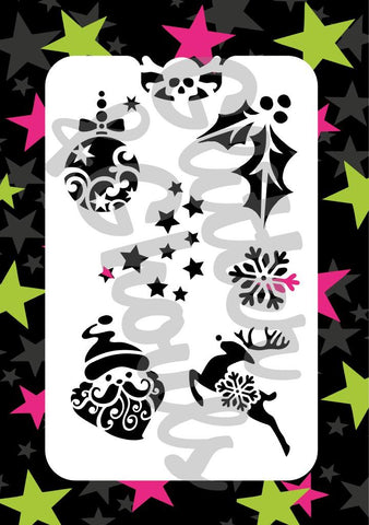 Glitter and ghouls stencil - Christmas fun