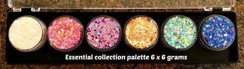 Fairy Snuff glitter paste palette 6 x 6gm Essential collection
