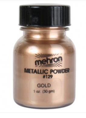Mehron Metallic powder - Gold 28gm