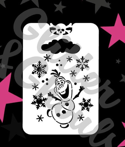 Glitter and ghouls mid sized stencil - Cool snowman
