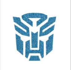 Glitter tattoo stencils - Transformer - 5pcs