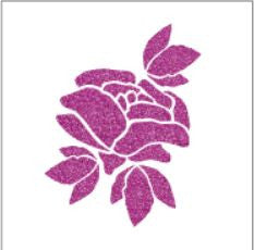 Glitter tattoo stencils - Rose - 5pcs