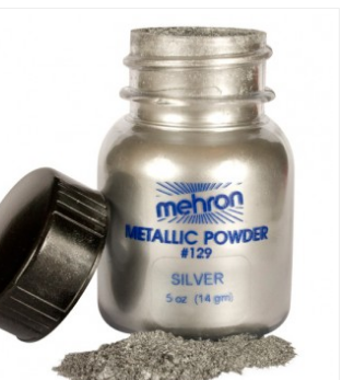 Mehron Metallic powder - Silver 14gm
