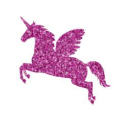 Glitter tattoo stencils - Unicorn - 5pcs