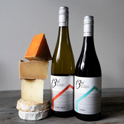 Cheese box: Wine and cheese pairing with 13th Street winery!