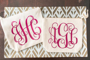 Personalized Monogrammed Bridal Party Cosmetic Bag