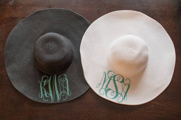 dae36e2f Personalized and Monogrammed Floppy Beach Hat - Bash House