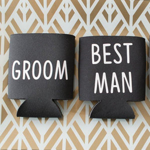 Groomsmen Bachelor Party Favor Can Cooler