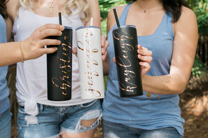 Bachelorette Skinny Tumblers for Bridesmaid Proposal Gift