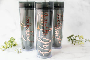 Bridesmaid Tumblers for Bachelorette Party Gift