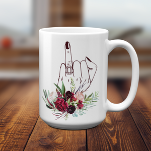 Future Mrs. Floral Engagement Mug for Bridal Shower Gift