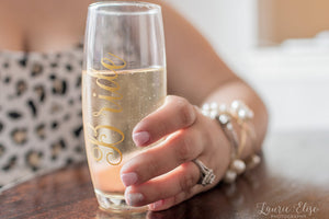 Personalized Stemless Champagne Flute