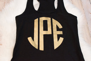 Monogrammed Bachelorette Party Tank Top