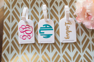 Personalized 3 Letter Monogram Luggage Tag