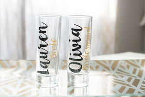 Personalized Bachelorette Party Shot Glasses