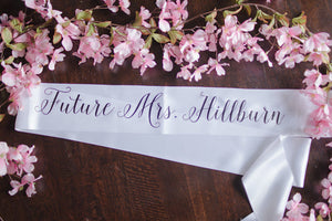 Personalized Bachelorette Party Sash for Bride and Bridal Party
