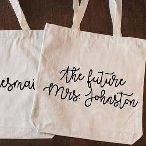 Custom Bridesmaid Bachelorette Tote Bag