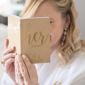Custom and Personalized Vow Book Set