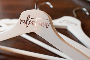 Bridesmaid and Bridal Party Hangers for Wedding Day
