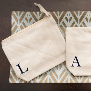 Personalized Single Initial Bridesmaid Cosmetic Bag