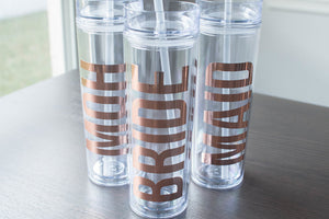 Bridal Party Custom and Personalized Tumbler