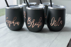 Bridesmaid Proposal Stemless Wine Tumbler