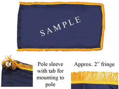 Pole Sleeve & Fringe Flag Sample