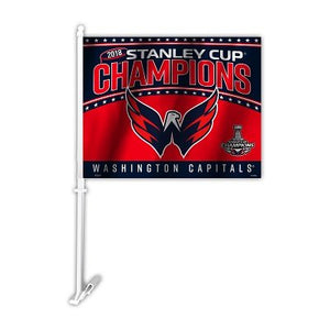 2018 Stanley Cup Champs Washington Capitals Car Flag 2 Sided