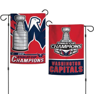 2018 Stanley Cup Champs Washington Capitals Garden Flag 2 Sided