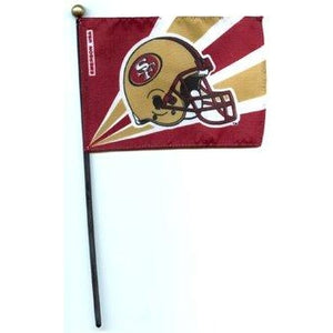 San Francisco 49ers 4x6in Stick Flag