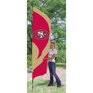 San Francisco 49ers 8ft Feather Sewn Flag Kit