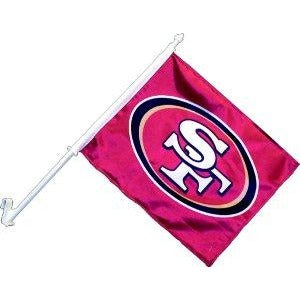 San Francisco 49ers Car Flag 2 Sided