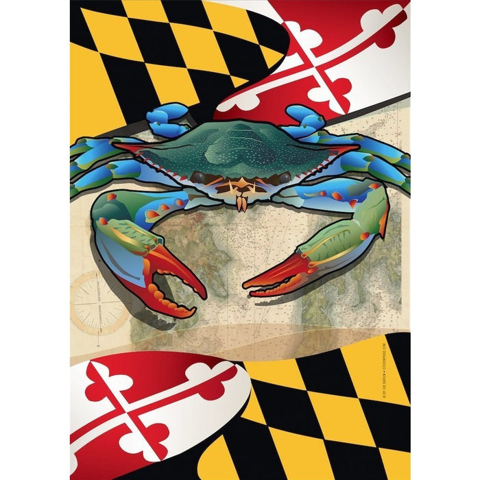Maryland w/ Crab Blue - House Flag