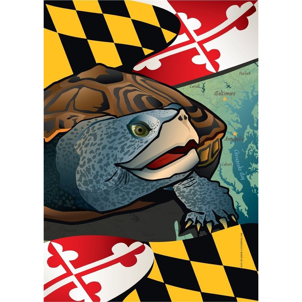 Maryland w/ Terp - House Flag