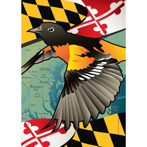 Maryland w/ Oriole - Garden Flag