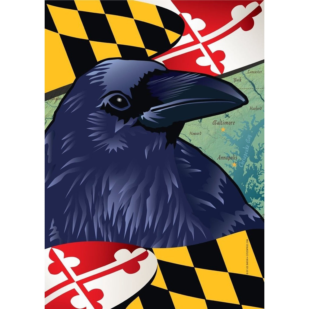 Maryland w/ Raven - Garden Flag