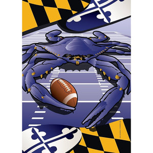 Maryland - Football Crab - Garden Flag