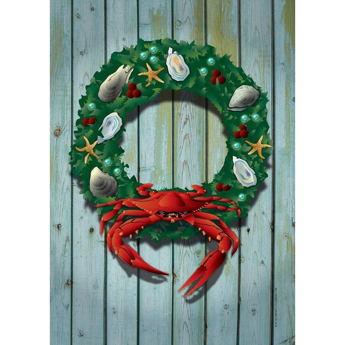 Red Crab Wreath - Garden Flag
