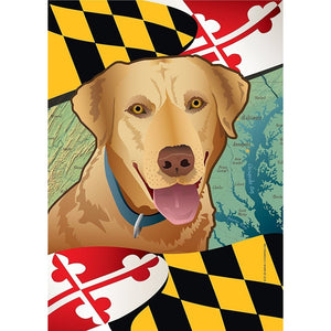 Maryland w/ Lab - Yellow - Garden Flag