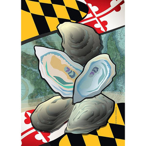 Maryland w/ Oysters - Garden Flag