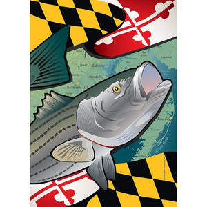 Maryland w/ Rockfish - Garden Flag
