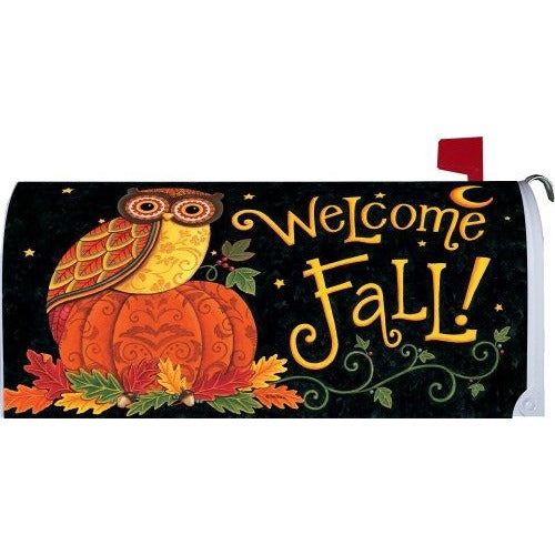 Fall Owl Standard Mailbox Cover