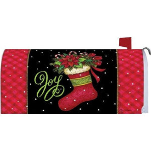 Joy Stocking Standard Mailbox Cover - FlagsOnline.com by CRW Flags Inc.