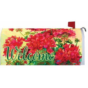 Welcome Geraniums Standard Mailbox Cover - FlagsOnline.com by CRW Flags Inc.