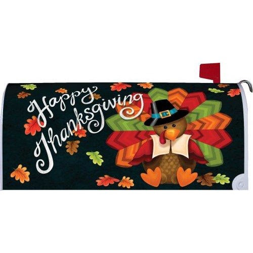 Colorful Turkey Standard Mailbox Cover