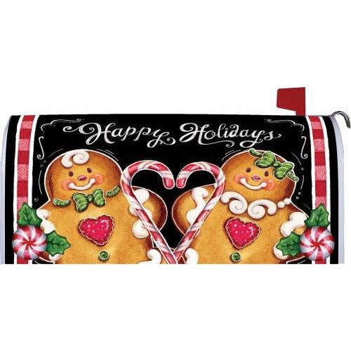 Gingerbread Holiday Standard Mailbox Cover