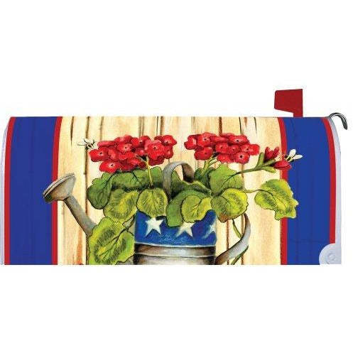 Patriotic Geranium Standard Mailbox Cover - FlagsOnline.com by CRW Flags Inc.