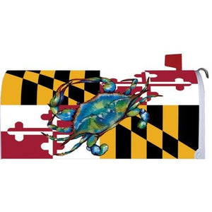 Blue Crab Maryland Standard Mailbox Cover - FlagsOnline.com by CRW Flags Inc.