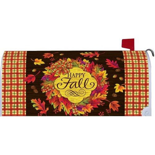 Fall Wreath Standard Mailbox Cover