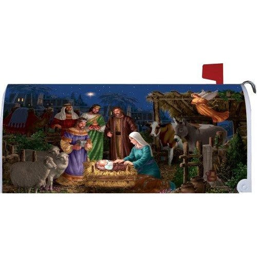 Angel Nativity Standard Mailbox Cover